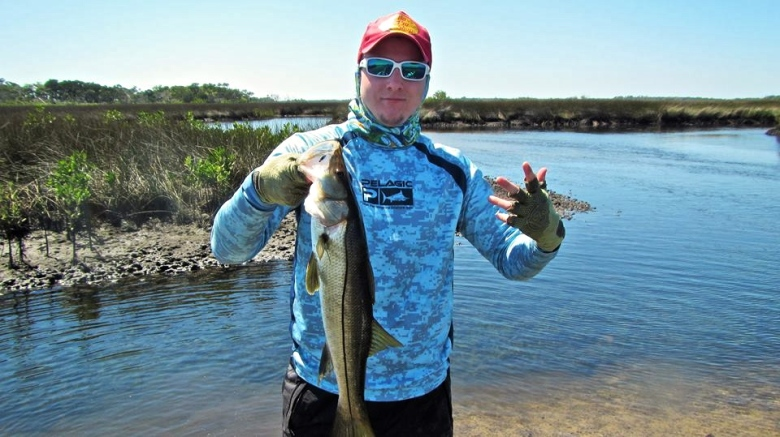 Brody Males with a Salt River Snook!