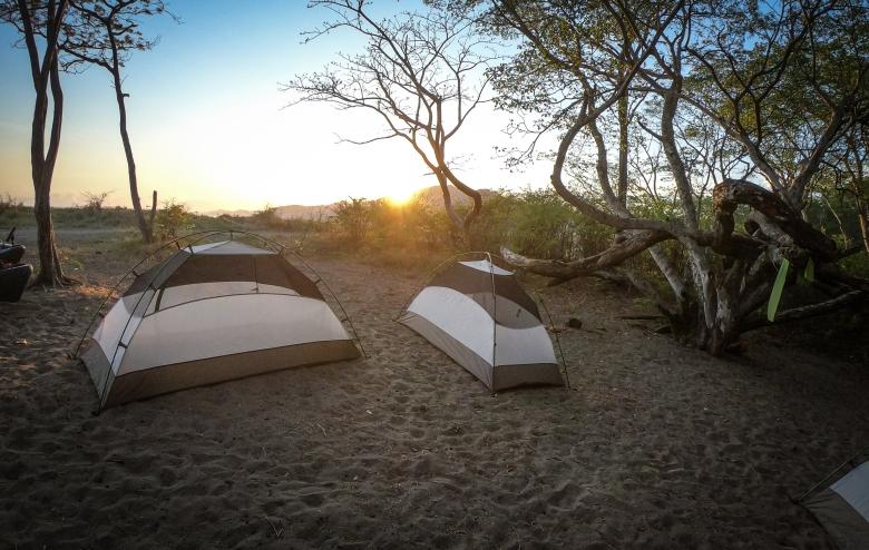 beach camping costa rica