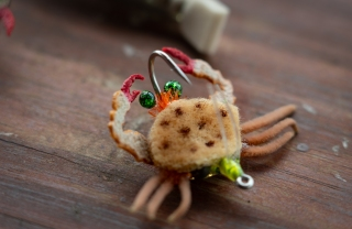 making shrimp and crab eyes fly tying